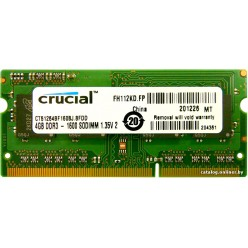 Crucial 4 GB SO-DIMM DDR3L 1600 MHz (CT51264BF160BJ)