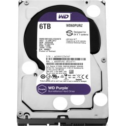 WD Purple WD60PURZ 6TB (SATA 6Gb/s, 5400 rpm, 64 Мб, WD Purple, до 32 камер)
